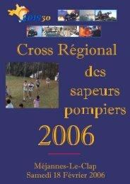 Résultats détaillés du cross régional 2006 - SDIS13