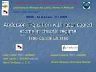 T - Physique des Lasers, Atomes et Molecules