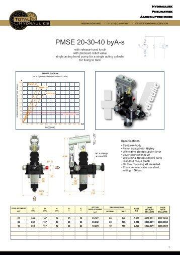 PDF Handpompen PMSE - Total Hydraulics BV