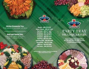 Deli Tray Brochure - Super 1 Foods