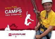CAMPS For 6 - 16 yeAr oldS ACTIVITy - KG Adventure
