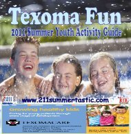TCOG Publishes 2011 Summer Youth Guide - Texoma Council of ...