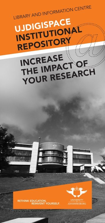 ujdigispace institutional repository increase the impact of your ...