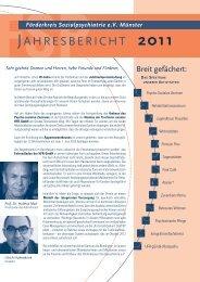 jahresbericht 2011 - FSP - Förderkreis Sozialpsychiatrie eV Münster