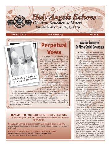 activities meetings - Olivetan Benedictine Sisters Holy Angels Convent