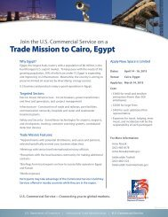 Trade Mission to Cairo, Egypt - National US-Arab Chamber of ...