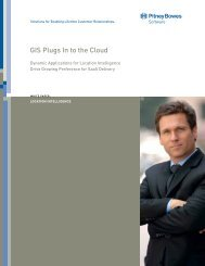 GIS Plugs In to the Cloud - Pitney Bowes