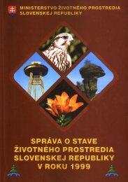 Správa o stave životného prostredia Slovenskej republiky v roku 1999