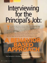 Interviewing for the Principal's Job - National Association of ...