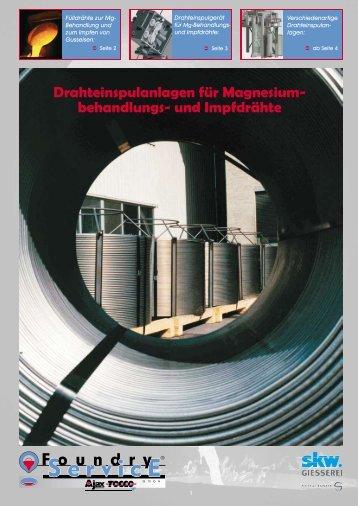 Drahteinspulanlagen Prospekt - Foundry Service GmbH