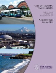 Tacoma Purchasing Manager.pmd - Bob Murray & Associates