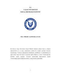 tc yaşar üniversitesi sosyal bilimler enstitüsü tez / proje yazım kılavuzu
