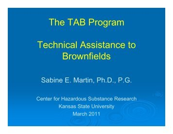 Technical Assistance to Brownfields, Sabine Martin