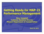 Getting Ready for MAP-21 Performance Management