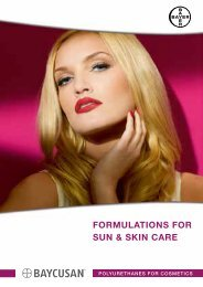 Formulations For sun & skin care - Bayer Cosmetics