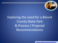 Exploring the need for a Blount County Skate Park - Mountain Skate ...