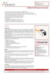 LANmark-6A Snap-In Connector - Nexans