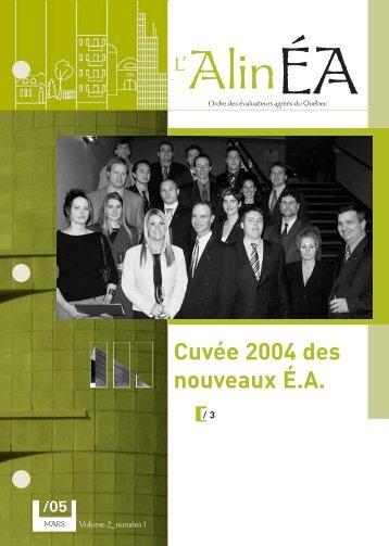 mars 2005 - Ordre des évaluateurs agréés du Québec