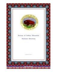 Bureau of Indian Education National Directory - Indian Affairs