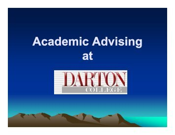 Advising Tips - Darton College