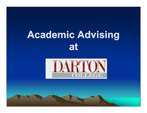 Advising Tips - Darton College