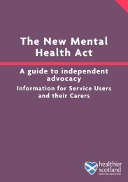 Guide to independent advocacy - Mental Welfare Commission for ...