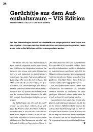 Gerüch(t)e aus dem Auf- enthaltsraum – VIS Edition