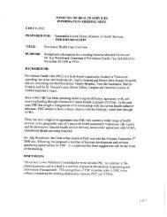 Ministry of Health Services Information Briefing Note - The Tyee