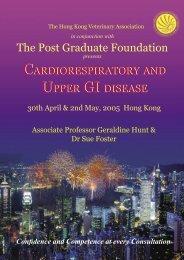 Final brochure HK.indd - Hong Kong Veterinary Association