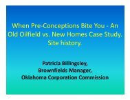 An Old Oilfield vs. New Homes Case Study. Site history. - IPEC