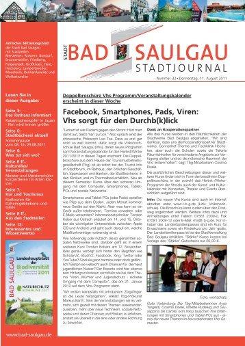Facebook, Smartphones, Pads, Viren - Stadt Bad Saulgau