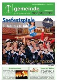 Seefestspiele - Gemeinde Stubenberg am See