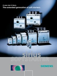 SOFTSTARTER - Siemens Industry, Inc.