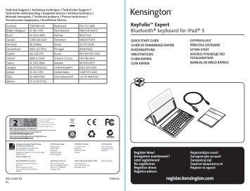 KeyFolio™ Expert Bluetooth® keyboard for iPad® 3 - Net