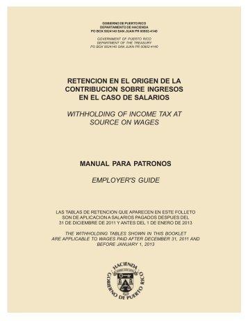 instrucciones tabla retencion 2011 - Departamento de Hacienda ...
