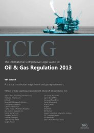 Oil & Gas Regulation 2013 - Czech Republic - TGC Corporate ...