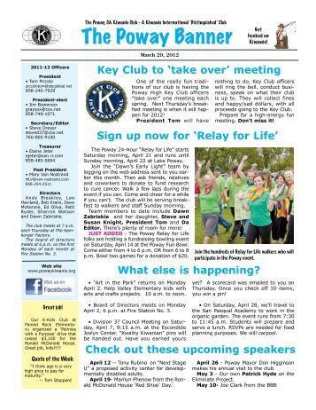 Key Club to 'take over' meeting - KiwanisOne.org