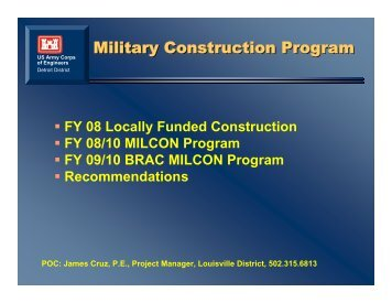 Upcoming Opportunities USACE Louisville - SAME Detroit Post
