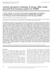 Assisted reproductive technology in Europe, 2004 - Human ...
