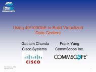 Using 40/100GbE to Build Virtualized Data Centers - Ethernet ...