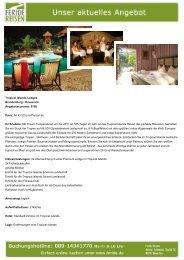 Tropical Islands Lodges - Eventreisen - Trierischer Volksfreund