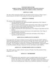 Constitution - College of Agricultural and Life Sciences - University ...