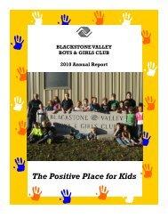 2010 Program Highlights - Blackstone Valley Boys and Girls Club