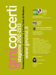 stagione 2012-2013 - Gioventù Musicale d'Italia sede di Modena
