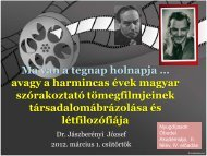 A harmincas évek szórakoztató magyar tömegfilmjei - Zskf.hu
