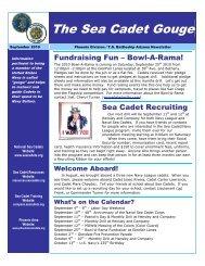 The Sea Cadet Gouge - U.S. Naval Sea Cadets - Phoenix Division