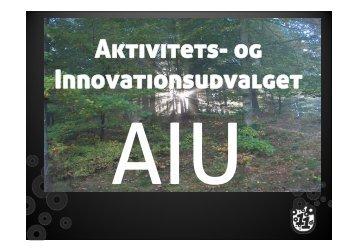 Aktivitets- og Innovationsudvalget - Leder - FDF