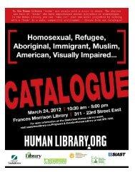 Human Library Catalogue - Saskatoon Public Library