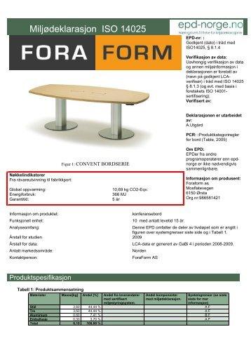 Fora Form Convent - Lindbak