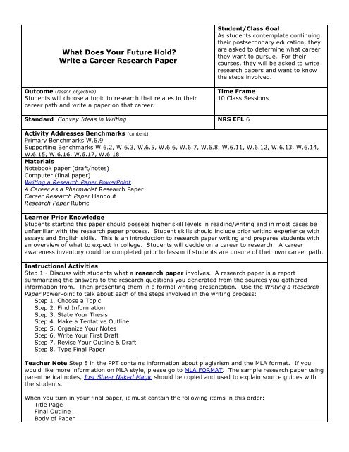 Examples Of Research Papers Mla
